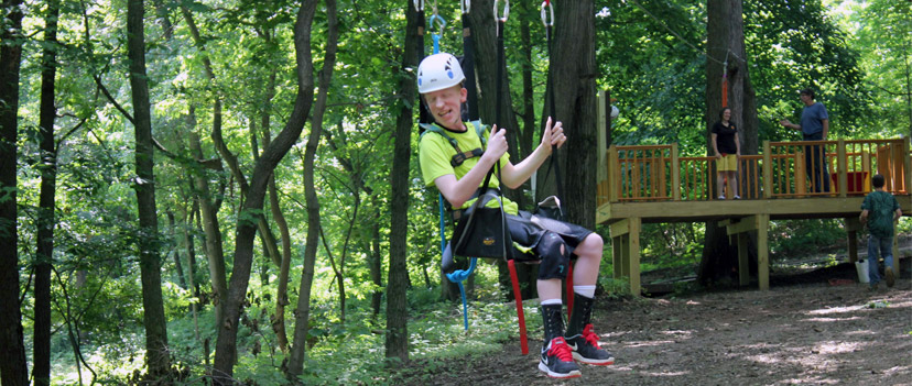 The Woodlands zip line